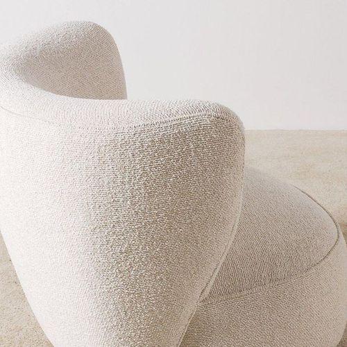 TRAVAIL DANOIS Paire de chauffeuses Hêtre et tissu de laine Date de création : v…