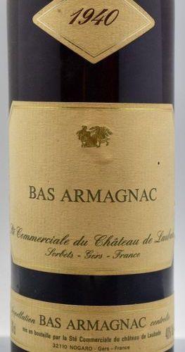 1 bottle BAS ARMAGNAC Laubade 1940 cb