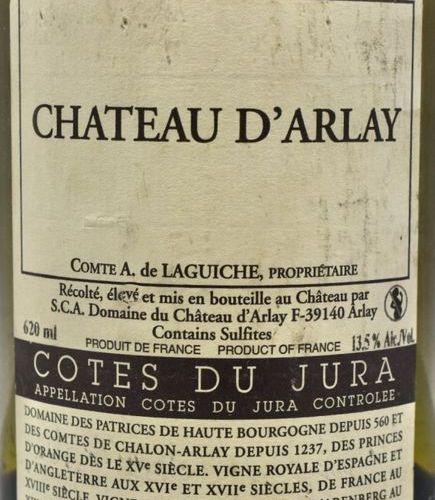 1 bottle JAUNE DU JURA WINE, Château d'Arlay 2011