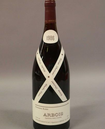 3 magnums ARBOIS ROUGE POULSARD VIGNES Rolet 1986 (Lot sold with VAT included an…
