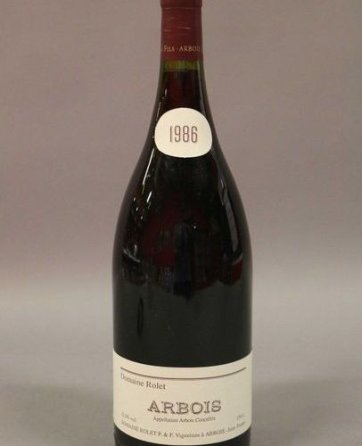 3 magnums ARBOIS ROUGE TRADITION Rolet 1986 (Lot sold with VAT included and reco…
