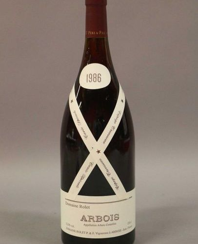 3 magnums ARBOIS ROUGE TROUSSEAU Rolet 1986 (Lot sold with VAT included and reco…