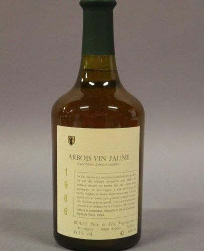 6 bottles ARBOIS YELLOW WINE Rolet 1986 (Lot sold with VAT included and recovera…