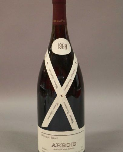 3 magnums ARBOIS ROUGE PINOT Rolet 1988