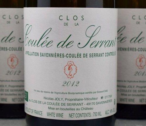 """12 bottles SAVENNIÈRES """"Clos de la Coulée de Serrant"""", N. Joly 2012"""