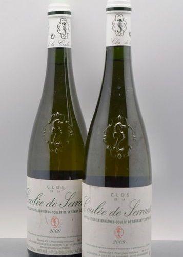 """2 bottles SAVENNIÈRES """"Clos de la Coulée de Serrant"""", N. Joly 2009"""