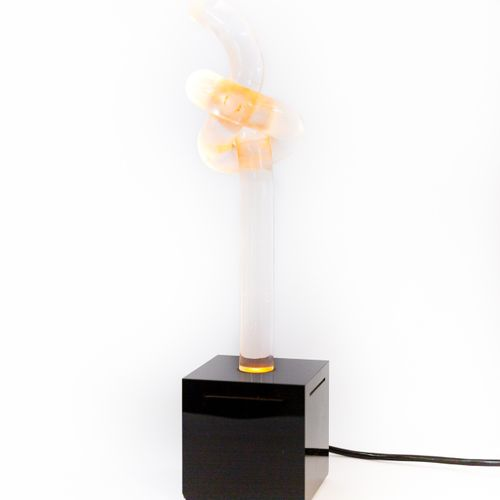 ANONYME Table lamp Plexiglass Date of creation: ca. 1990 H 42 cm
