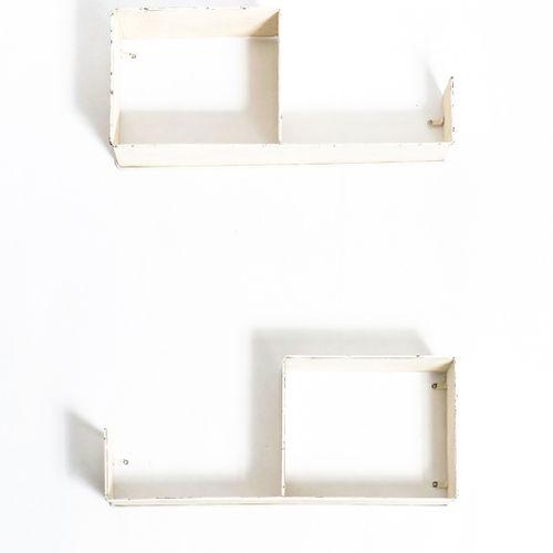 Mathieu MATÉGOT (1910 2001) Snail Pair of shelves Metal, perforated steel and br…