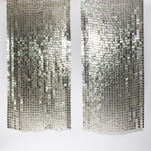 Paco Rabanne né en 1934 Space Curtains Pair of curtains Plastic coated aluminium…