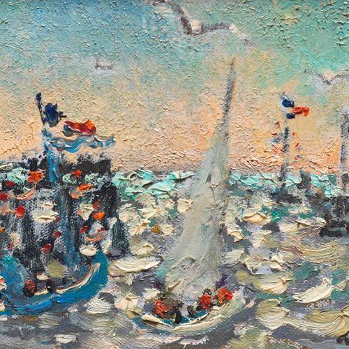 André HAMBOURG(1909 1999) LA FETE DE LA MER A DEAUVILLE Huile sur toile Signée …