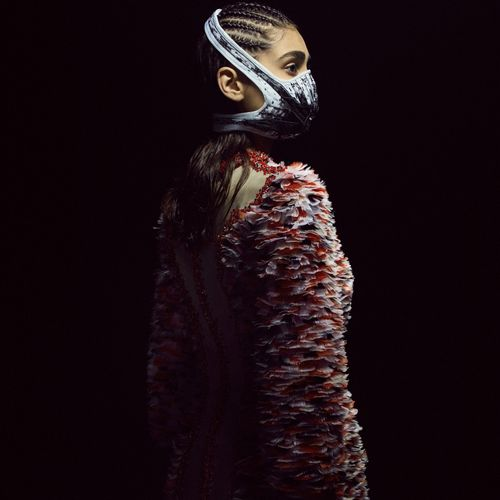 AOUADI x R PUR Embroidery: House VERMONT  RADIANT NODE MASK, 2021  THERMO CONTRO…