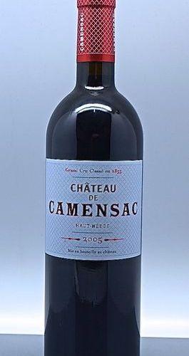 1 bouteille CH. CAMENSAC, 5° cru Haut Médoc 2005 (etls)