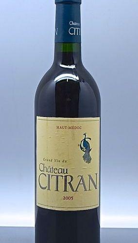 1 bouteille CH. CITRAN, Haut Médoc 2005 (elt)