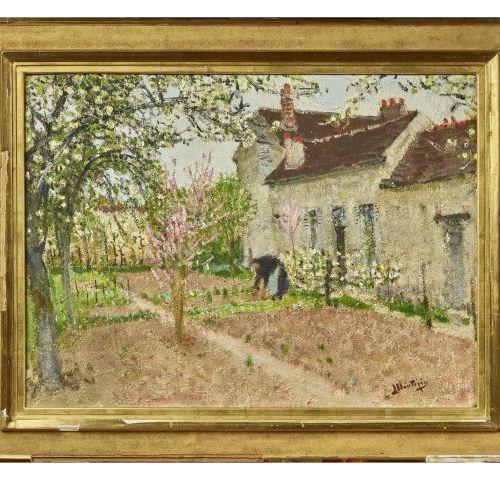 Pierre Eugène MONTEZIN (1874 1946)   Jardins à Veneux.   Huile sur toile.   Sign…