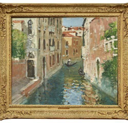 Pierre Eugène MONTEZIN (1874 1946)   Vue de Venise.   Huile sur toile.   Signée …