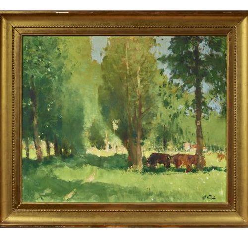 Pierre Eugène MONTEZIN (1874 1946)   Sous bois.   Huile sur toile.   Signée en b…