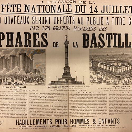 Bastille flagship poster  Height: 54 x 43.5 cm