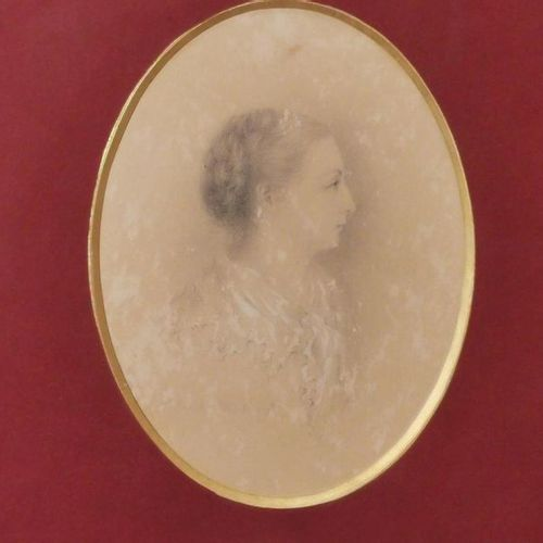 MEETING OF FIVE BOXED PARTS: 19th century FRENCH SCHOOL. Two portraits of women.…
