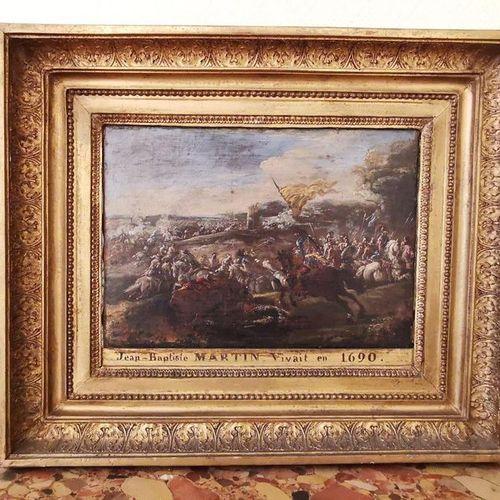 Attribué à Pietro et/ou Francesco GRAZIANI (XVIIe). Scène de bataille. Toile. Ca…