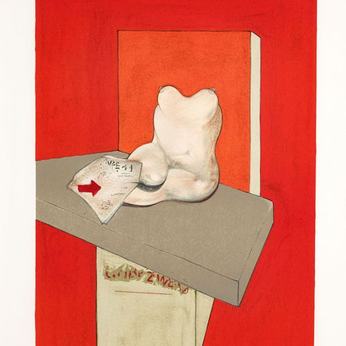 """Francis Bacon (1909 1992),""""Etude de corps humain d'après Ingres"""", 1984, lithogr…"""