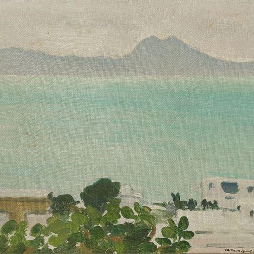 """Albert Marquet (1875 1947), """"La Baie de Tunis"""", huile sur toile, signée, 16x22 c…"""