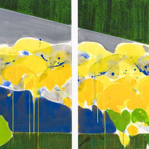 Teruko Yokoi (1924),Sans titre, 1982, technique mixte sur papier, gouache, acry…