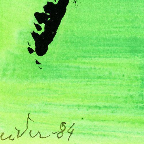 Gérard Schneider (1896 1986), Composition, 1984, technique mixte sur papier, sig…