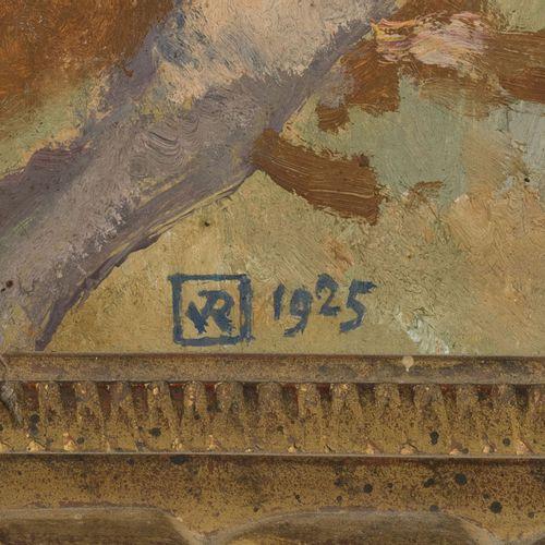 Théo Van Rysselberghe (1862 1926), Trois pins, 1925,huile sur carton, monogramm…