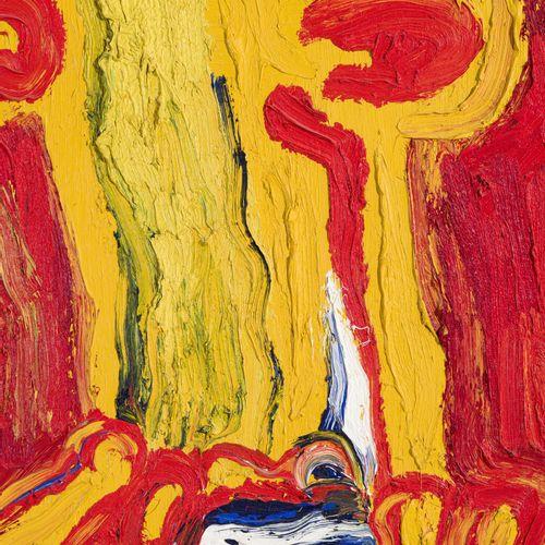 Bengt Lindström (1925 2008),Visage,1985, huile sur toile, signée, 81,5x65 cmP…
