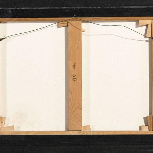 Gérard Schneider (1896 1986), Composition abstraite sur fond rouge, technique mi…