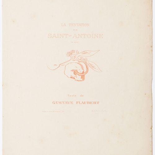 Odilon Redon (1840 1916) Flaubert. La Tentation de Saint Antoine. 1896. Rare alb…