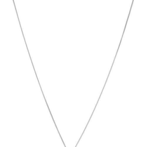 Pendentif goutteor gris 750 serti de diamants sur une chaîne à maille vénitienn…