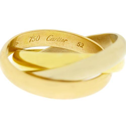 Cartier,Trinity, bague 3 ors 750, signée, doigt 55 15