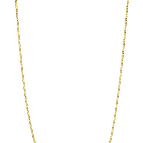 Chaîne or 750 à maille vénitienne, long. 60 cm, 14g