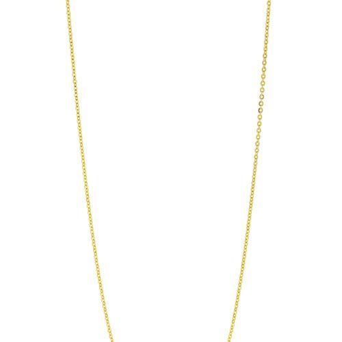 Collier or rose 585 à maille forçat, long. 71 cm, 8g