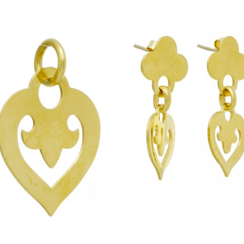 O. J. Perrin, ensemble composé d'un pendentif et d'une paire de pendants d'oreil…
