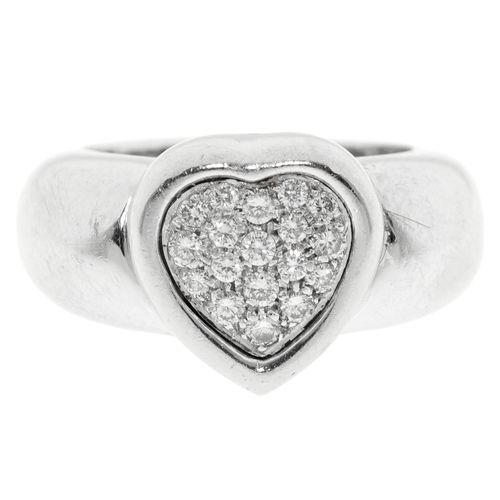 Piaget, baguec'uror gris 750 sertie de diamants taille brillant, signée, numér…