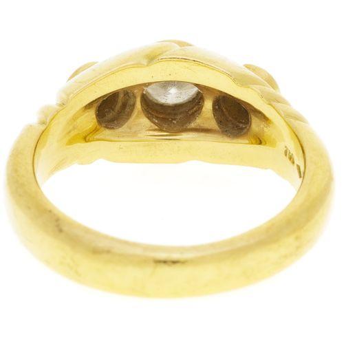 Bague or 750 sertie de diamants taille brillant, doigt 53 13, 8g