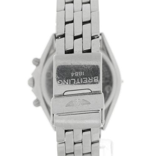Breitling, Sextant, réf. B55047, montre bracelet chronographe en acier bicoloreM…