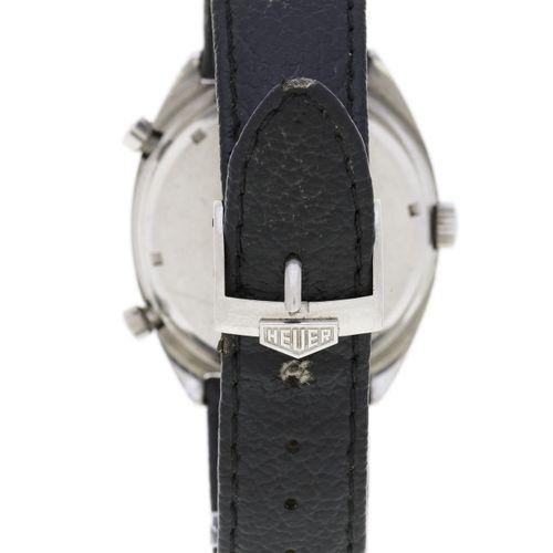 Heuer, Carrera, réf. 1153, montre chronographe en acier, années 1970Mouvement: c…