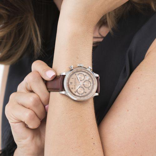 Baume & Mercier, Capeland, réf. 65687, montre chronographe en acier, circa 2013M…