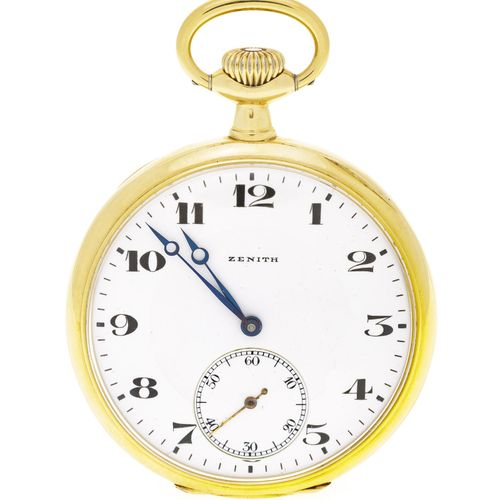 Zenith, montre de pochepetite seconde en or 750, années 1910 20Mouvement: mécan…