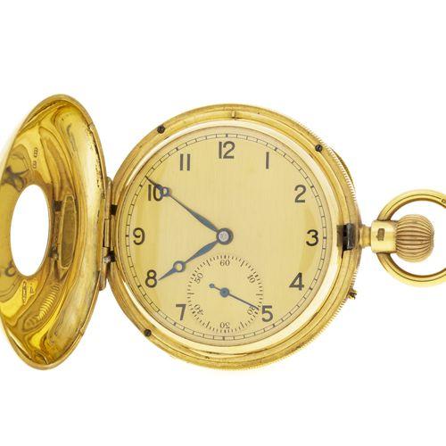 J.W. Benson, montre de poche savonnette petite seconde en or 750, circa 1900Mouv…
