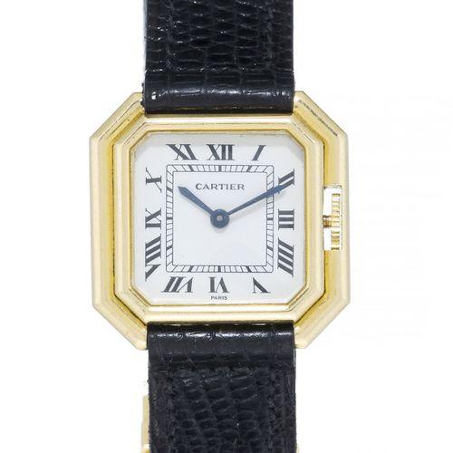 Cartier, Ceinture, montre en or 750, années 1980Mouvement: mécaniqueBoîte: n°781…
