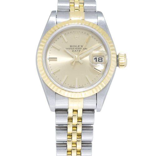 Rolex, Oyster Perpetual Date, réf. 69173/69000A, montre bracelet en or et acier,…