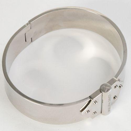 Louis Vuitton, bracelet Spirit Nano métal palladié, PM, diam. 6 cm