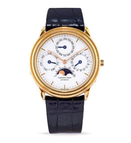 AUDEMARS PIGUET Audemars Piguet Perpetual Calendar, '80s 18k gold round case, st…