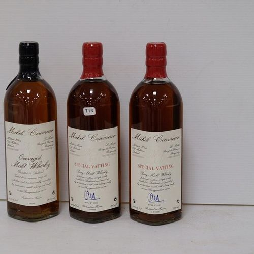 2 B WHISKY SPECIAL VATTING 70 Cl 45% Michel Couvreur NM / 1 B WHISKY OVERAGED 70…
