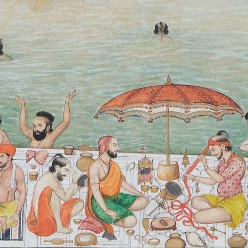 Bishan Singh Scènes de vie au Harmandir Sahib, le Temple d'Or d'Amritsar  Inde d…