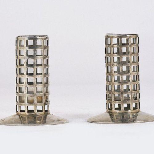 "Josef Hoffmann, a pair of small vases (or ""toothpick holders""), Wiener Werkstätt…"